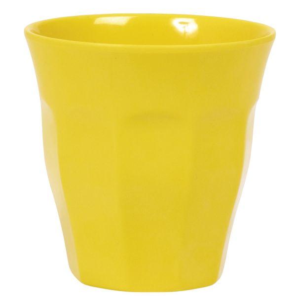 Melamin Becher in gelb von Rice