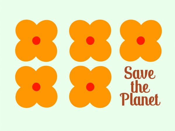Postkarte - Save the Planet