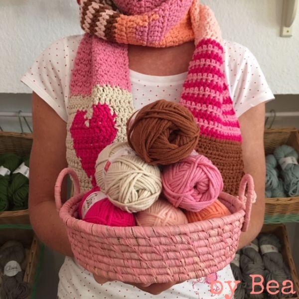Materialset - Maschenpäckchen Schal by Bea