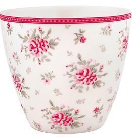 Latte cup Flora White von GreenGate