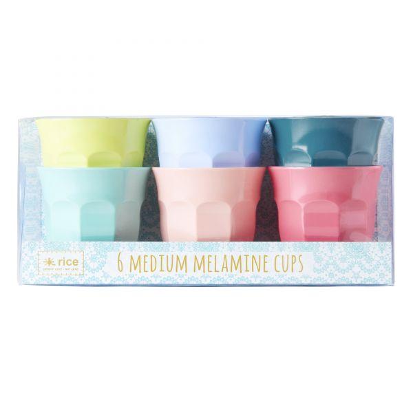 6 Melamin Cups in SHINE-Colour von Rice