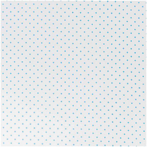 Baumwollstoff von Rico Design - Weiss mit blauen Punkten