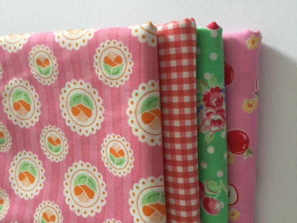 Stoffpaket - Super Sale - (grün,apricot,pink)