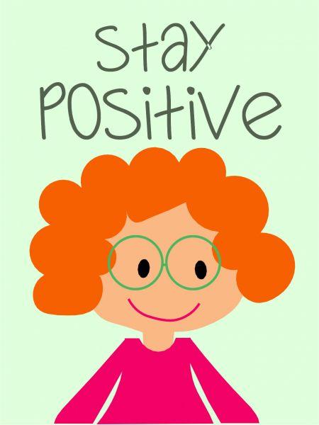 Postkarte - stay positive