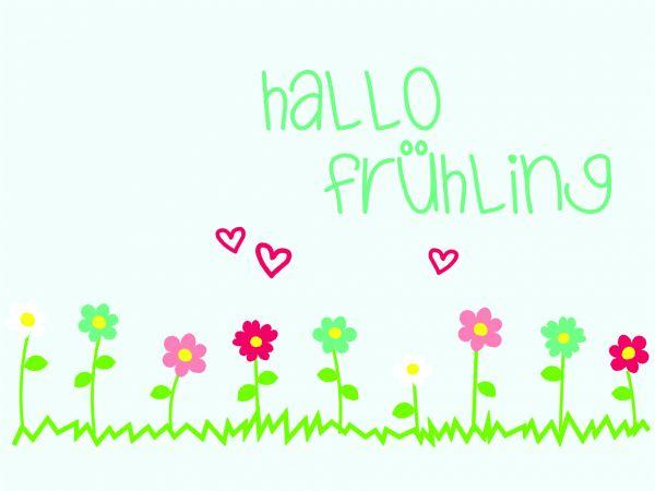 Postkarte - Hallo Frühling
