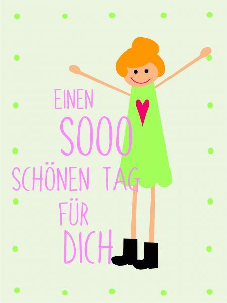 Postkarte - DIY - Einen sooo schönen Tag...