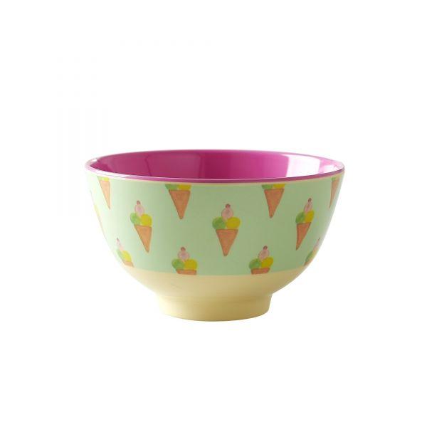 Melamin Schale klein Ice Cream - Print von Rice