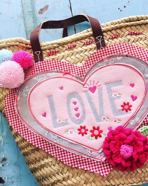 """Sommer-Korb, """"LOVE"""" by Bea"""