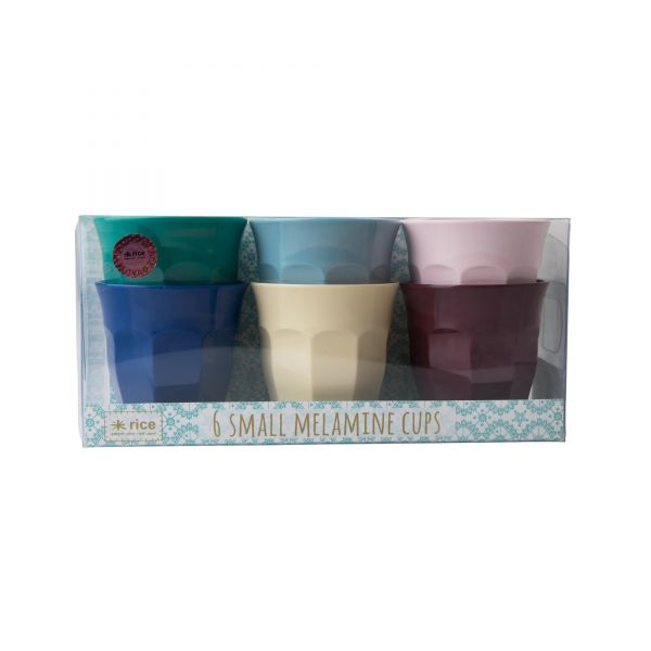 6 Melamin Mini Cups in Urban-Colour von Rice