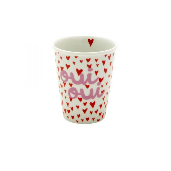 Porcelan Becher hearts and oui von Rice