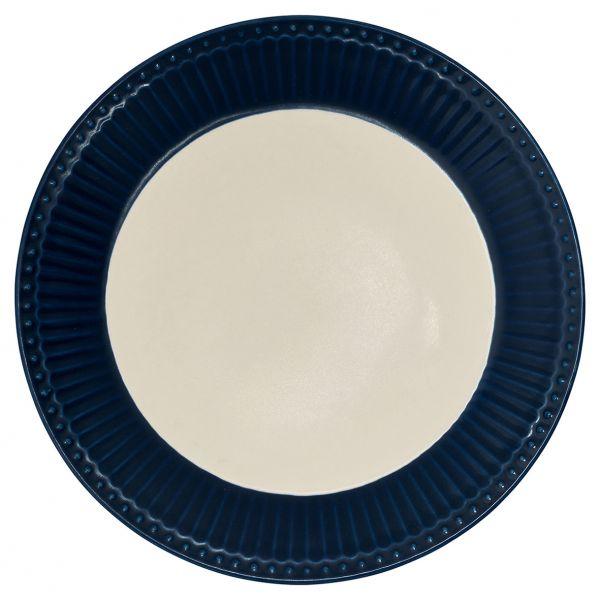Plate Alice dark blue von GreenGate