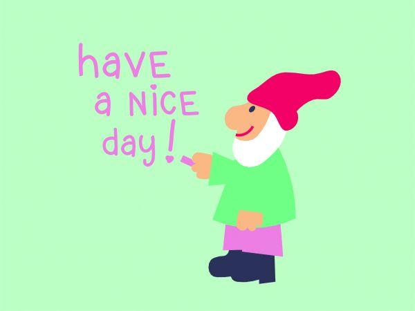 Postkarte - have a nice day