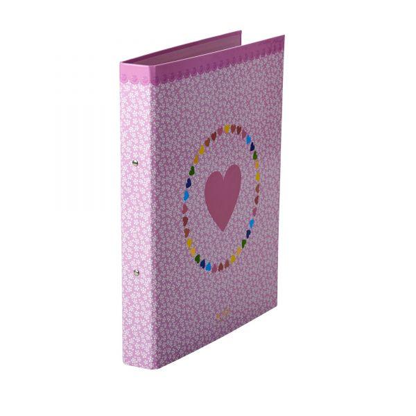 Ordner DIN A 4 Pink mit Heart print
