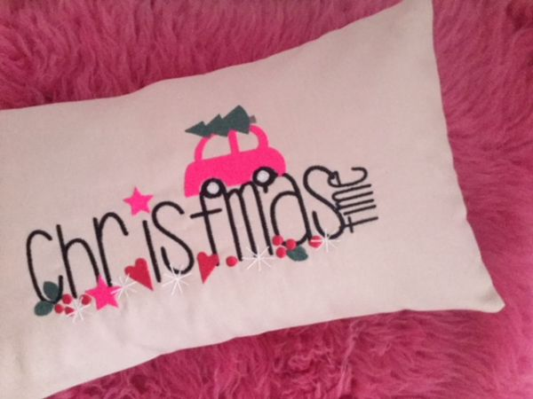 Kissen - Happy Holidays 25x45 cm
