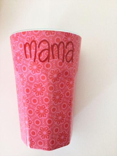 Melamin Latte-Becher individuell mit Schriftzug von Rice