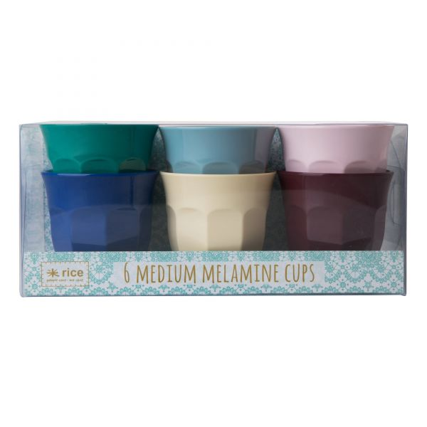 6 Melamin Cups in Urban-Colour von Rice