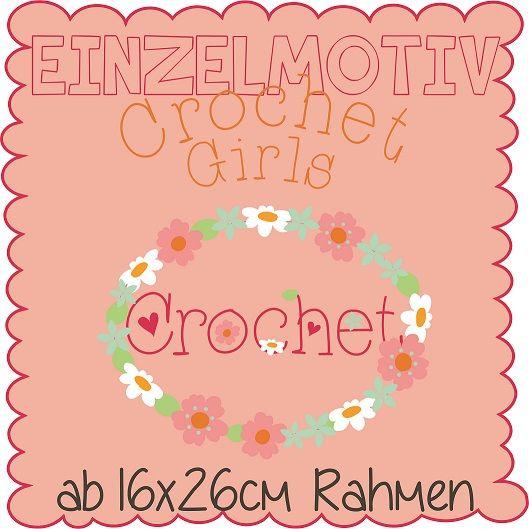 Einzelmotiv Crochet Girl 16x26