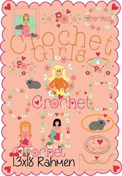 Crochet Girls 13x18