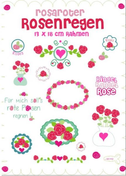 rosaroter Rosenregen 13x18