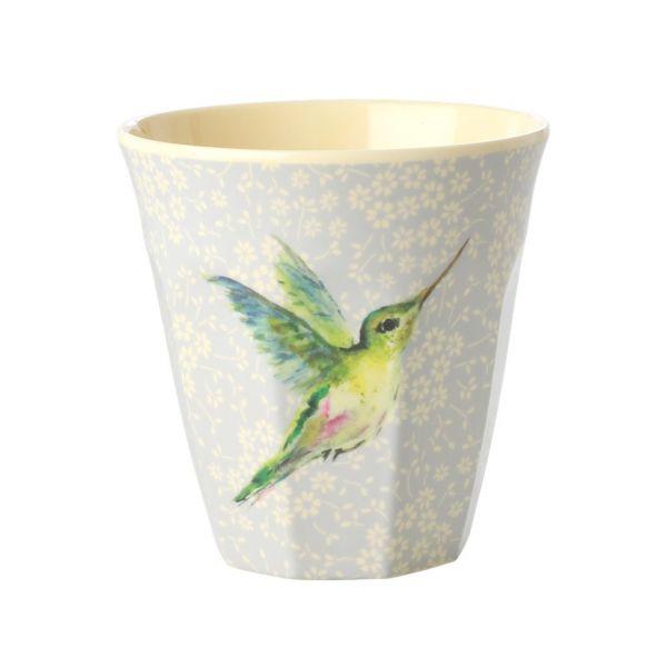 Melamin Becher hummingbird print von Rice