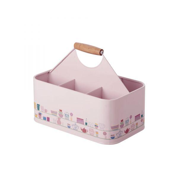 Flaschenhalter soft pink Charlottes Copboard Print von Rice