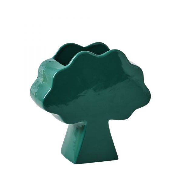 Vase Tree Shapped Ceramic in green von Rice