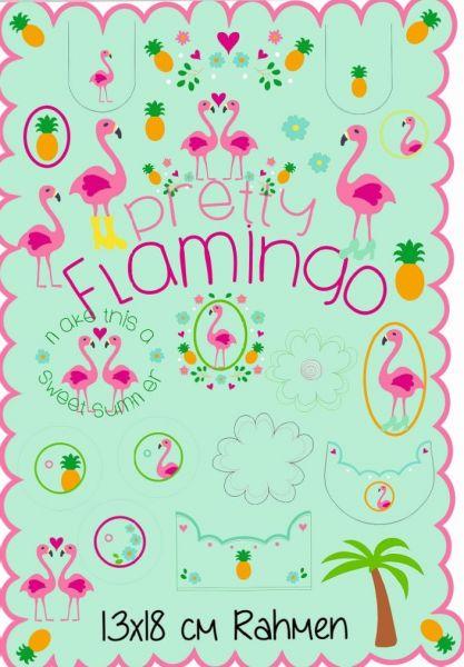 Pretty Flamingo 13x18