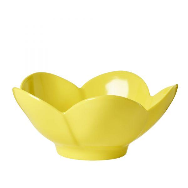 Melamin Schale in Blumenform (Gelb)von Rice