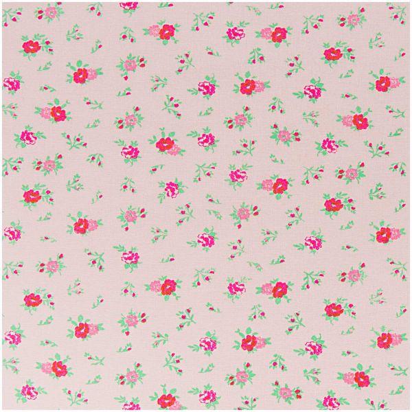Baumwollstoff von Rico Design - Streublumen (rosa)