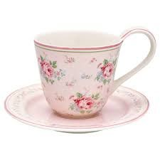 Cup and Saucer Marley Pale Pink von GreenGate