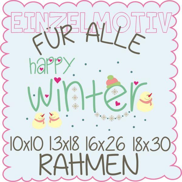 happy winter ( Alle Rahmengrößen )