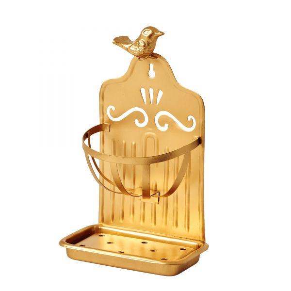 Seifenhalter aus Metall in gold von Rice