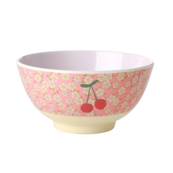 Melamin Bouwl flowers and cherry print von Rice