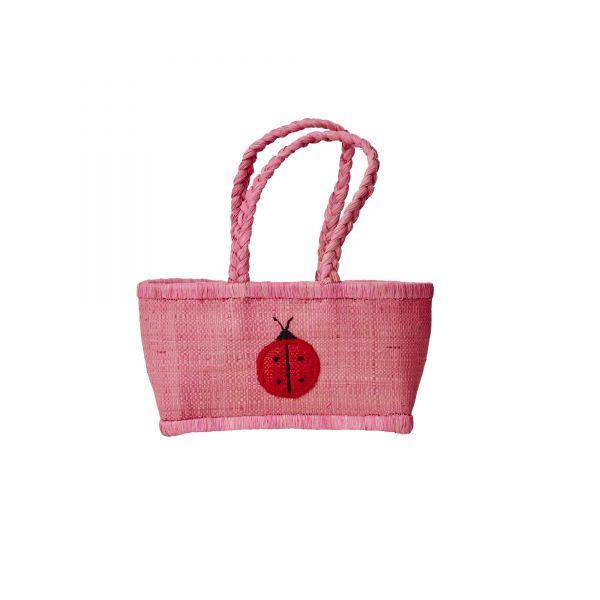 Kids Bag in pink mit marienkäfer von Rice (1)