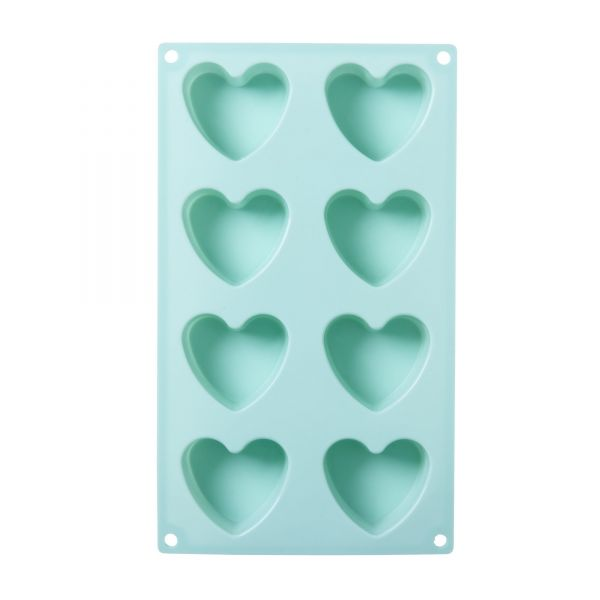 Gussform Heart Silikon blue von Rice