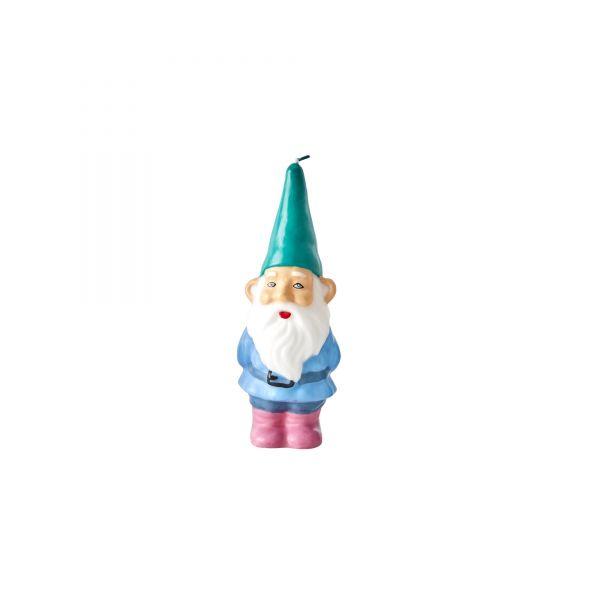 """Kerze """"Gnome"""" mit Green Mütze von Rice"""