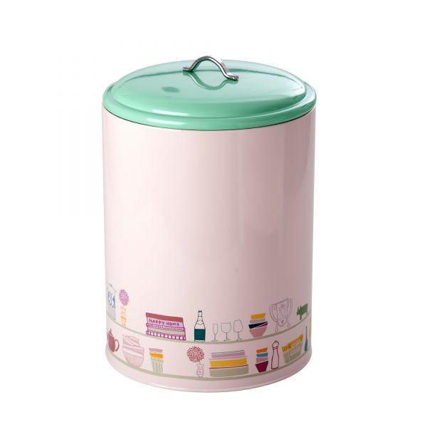 Big Kitchen Jar (Gefäß mit Deckel) soft pink Charlottes Copboard Print von Rice