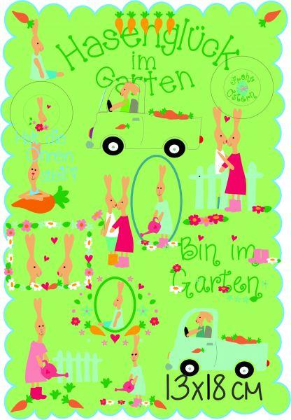 Hasenglück im Garten 13x18