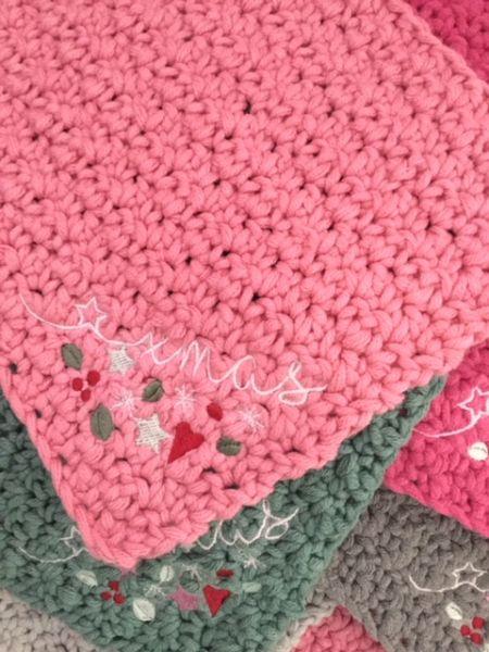 xmas Topflappen-Set (rosa) by Bea