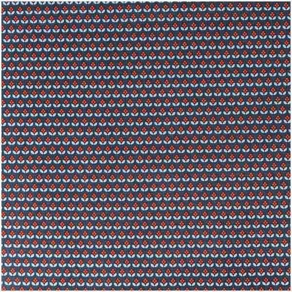 Baumwollstoff - dunkelblau mit kleinen Muster