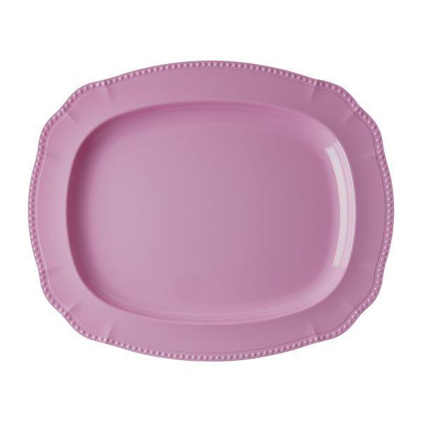 Melamin Servierteller Dark Pink von Rice