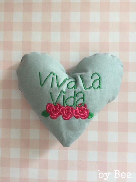 """Deko-Herz """"viva la vida"""" by Bea"""
