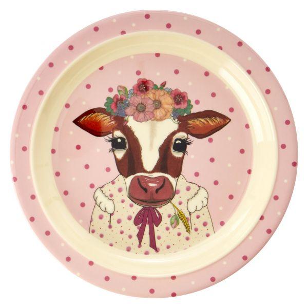 Melamin Kids Lunch Plate Farm Animals Print