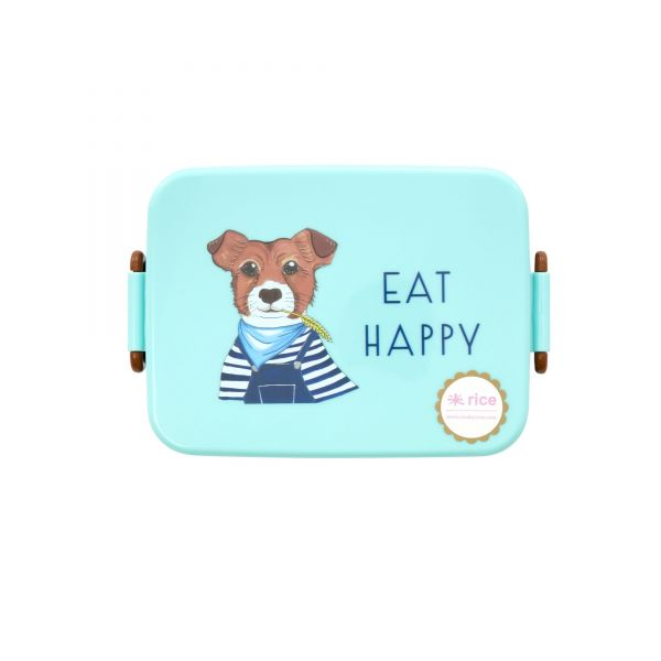 Melamin Kids Lunch Box Farm Animals (Green) Print von rice