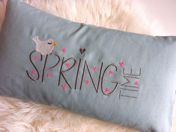 Kissen - Springtime (vintage blue)