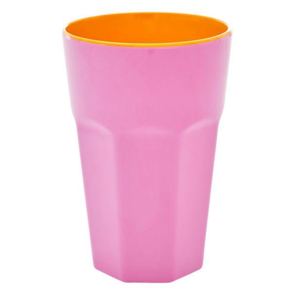 Melamin Latte-Becher orange-pink von Rice