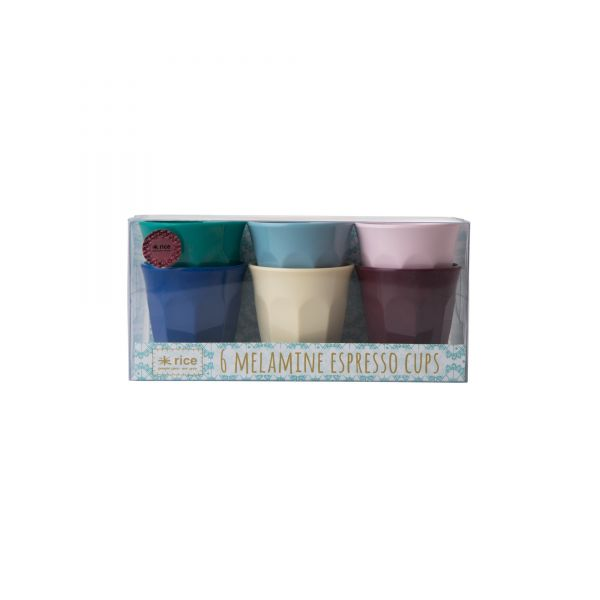 6 Melamin Espresso Cups in Urban-Colour von Rice