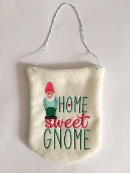 "Deko Wimpel ""Home Sweet Gnome"""