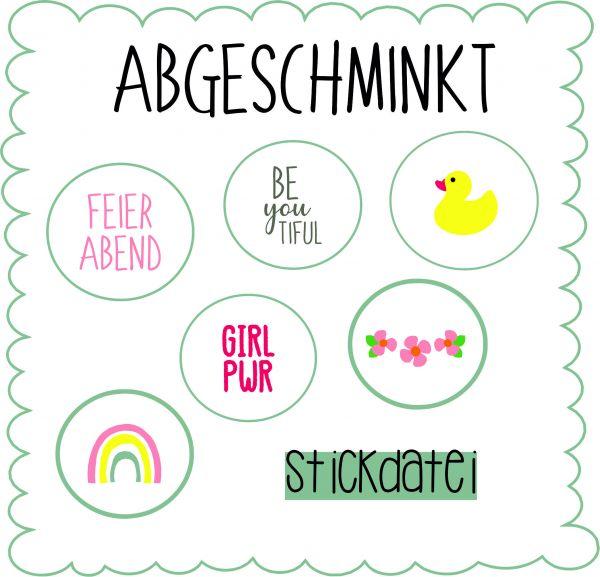 Stickdatei - Abgeschminkt