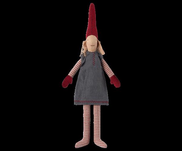Wichtel - Mini , Mädchen mit grauen Kleid